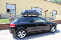 Dachbox auf Audi A3 in Horbach