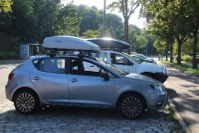 Karlsruhe: Dachbox 370 Liter auf einem Seat Ibiza