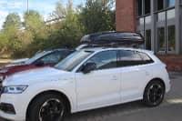 Dachbox auf einem Audi Q5 in Zeiskam