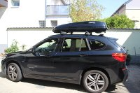 Dachbox auf BMW X1 in Körborn