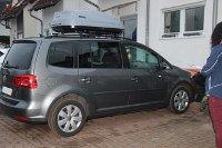 Dachbox 330 Liter auf Volkswagen Touran