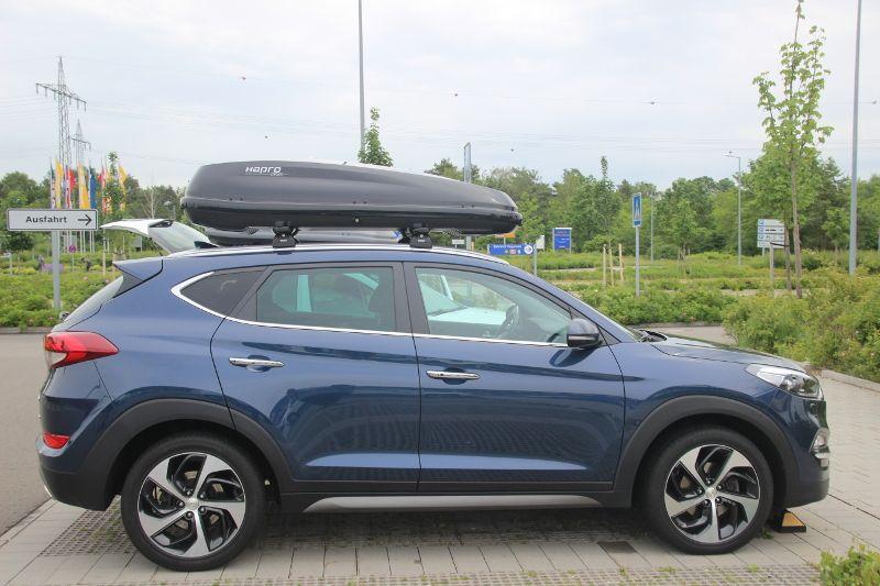 Dachbox auf einem Hyundai Tucson in Kaiserslautern