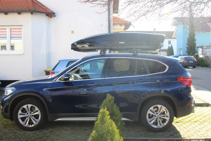 Dachbox auf einem BMW X1