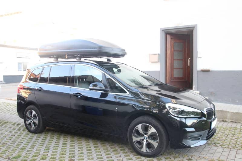 Dachbox auf einem BMW Gran Tourer