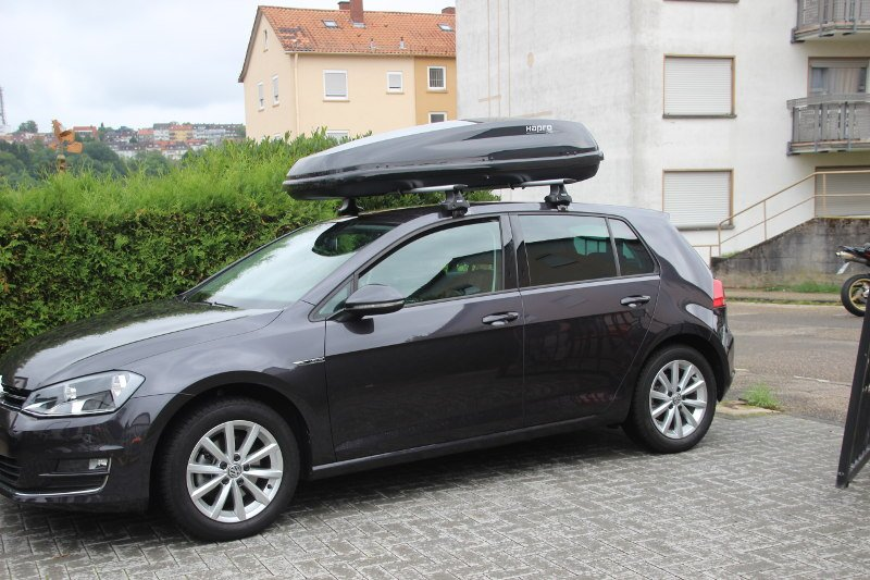 dachbox 430 liter f r ihren vw golf mieten. Black Bedroom Furniture Sets. Home Design Ideas