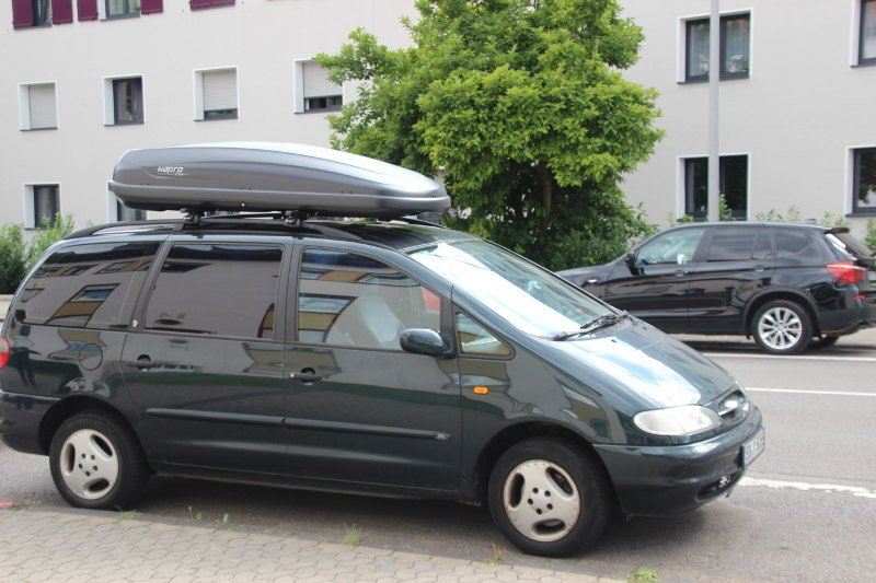 dachbox mit dachtr ger f r ford galaxy g nstig mieten. Black Bedroom Furniture Sets. Home Design Ideas