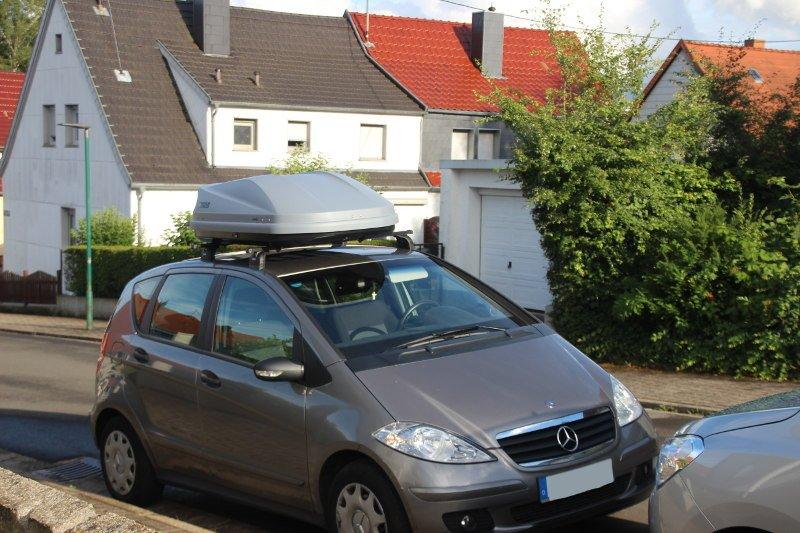 Dachbox auf einem Mercedes A-Klasse in Namborn