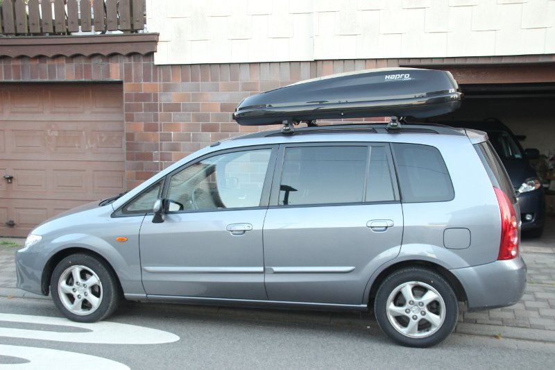 Dachbox auf Mazda Premacy in Pirmasens